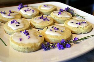 Victorian Lavender Cookies with Rose Water Icing Recipe                                                                                                                                                     More