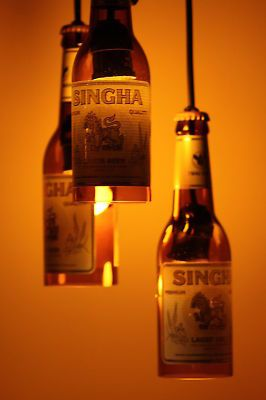 Singha Beer Bottle lights