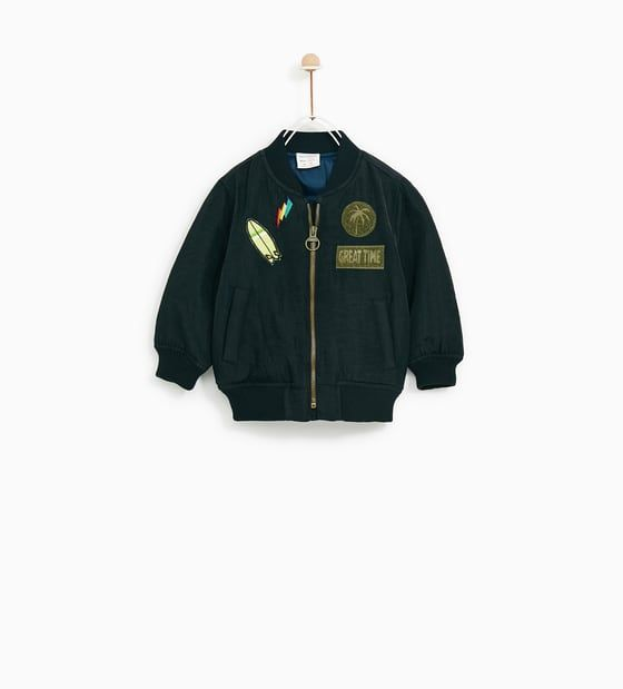 ZARA - KIDS - BOMBER JACKET WITH PATCHES
