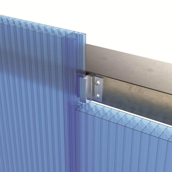 Interlocking polycarbonate system for traslucent facades ARCOPLUS®549 by dott.gallina
