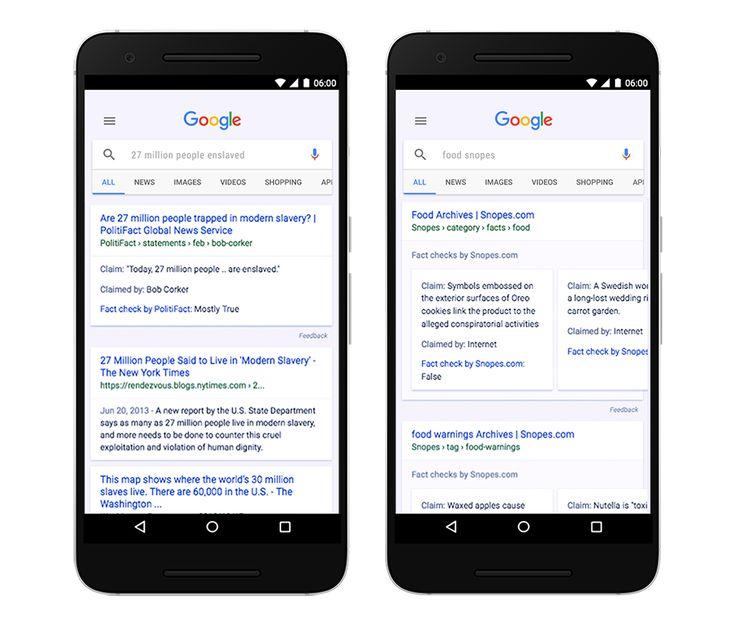 Google, Arama Sonuçlarına Bilgi Doğrulama Desteği Ekledi! Google, arama ve haber sonuçlarına bilgi doğrulama özelliğini ekledi. Google'ün tüm kullanıcılarına açılan özellik, haberlerden ya da başka kaynaklardan alınan bilgilerin doğruluğundan emin olamayan kullanıcıların farklı yorumları görmesini sağlıyor.  #İşCep #AnındaBankacılık #teknoloji #mobilhaber #mobiluygulama #mobilhayat #technology #mobilcihaz #teknolojihaberleri #haber #mobil #akıllıtelefon #mobilephone #icatlar…