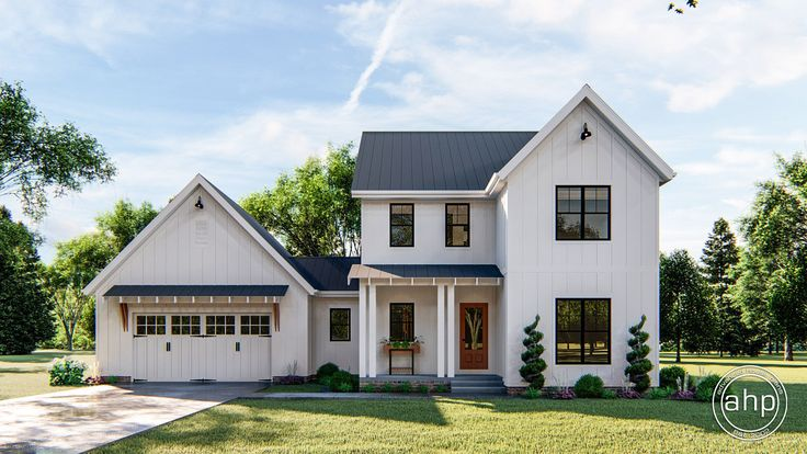 2 Story Modern Farmhouse Plan Collins Modern farmhouse