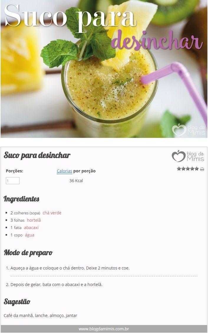 Suco para desinchar - Blog da Mimis - Suco drenante para desinchar é nova aposta para emagrecer!