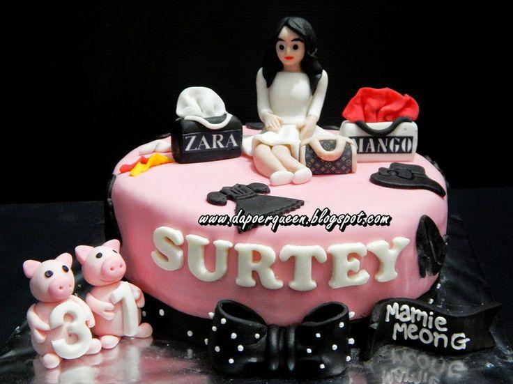 Dapoer Queen: Shopaholic Theme Birthday Cake