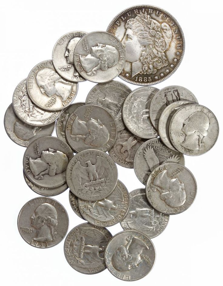 Lot 79: US Silver Coin Assortment; $6.00 dollar face value US 90% silver; together with a Morgan $1 1885-O
