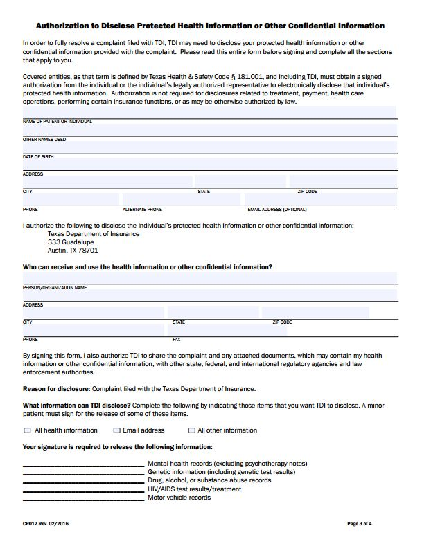 112 best Commissioners Complaint Form By State images on Pinterest - authorization request form