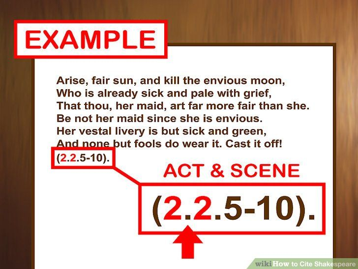 How To Cite Shakespeare With Pictures Wikihow Play Quotes Quotes Image Quotes