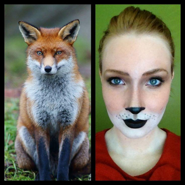 Fox Makeup. Un maquillaje basado en el verdadero animal y no en una caricatura de Disney. Para teatro infantil, mejor que lo caricaturizado.