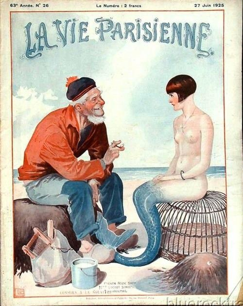 """Not sure how this depicts """"Parisienne"""" life, but it's a cool vintage poster!"""