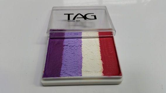 Pretty feminine rainbow cake for face paint designs