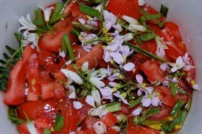 tomaten pinksterbloemensalade(en meer recepten)