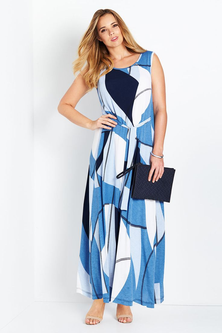BELLE BIRD - Belle Belted Abstract Print Maxi