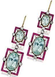 Resultado de imagem para aquamarine oval cut earrings and pendant