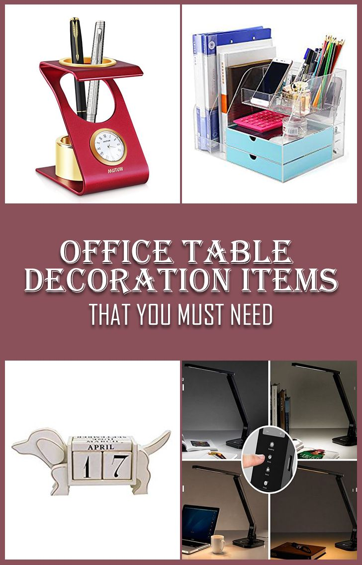 Must Have Office Table Decoration Items To Prettify Your Workspace