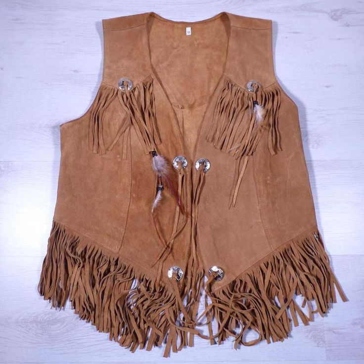 Unisex Vintage Tan SUEDE WAISTCOAT Native American Festival Fringed #B2222 in Clothes, Shoes & Accessories, Men's Clothing, Waistcoats | eBay!