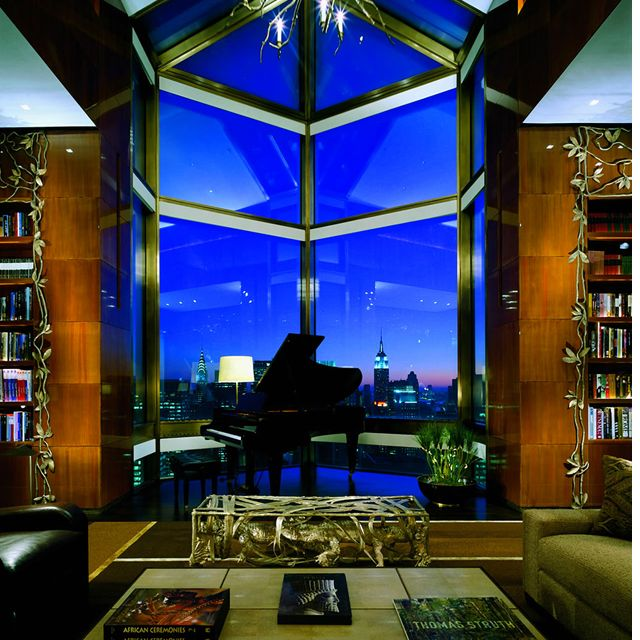 Ty Warner Penthouse @ Four Seasons Hotel, NYC ... wonder if the acoustics are any good. Must personally go investigate.