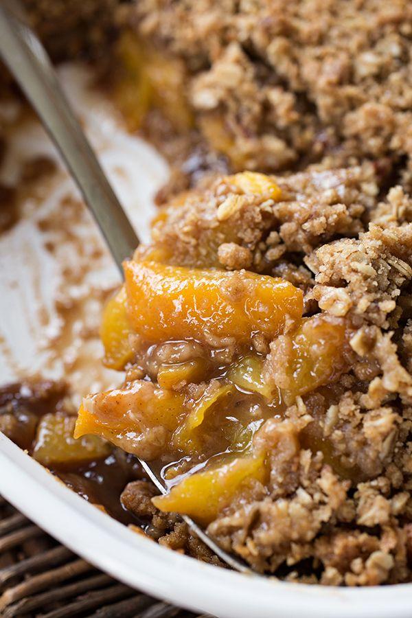 Warm Vanilla-Bourbon Peach Crisp, and Luxuriating in the Sweet Taste of this Season of Life