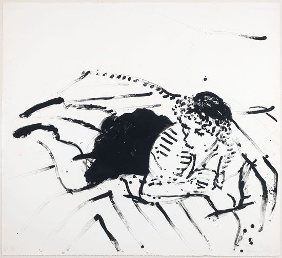 Artwork by David Hockney, Big Celia Print #2, Made of lithograph on Arches paper