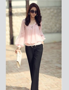 Pink Balloon Sleeve Top PINK50