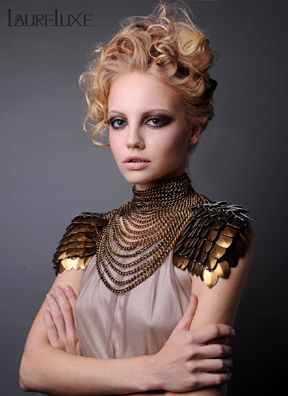 LaureLuxe Metal Couture designs at Couture Fashion Week NY