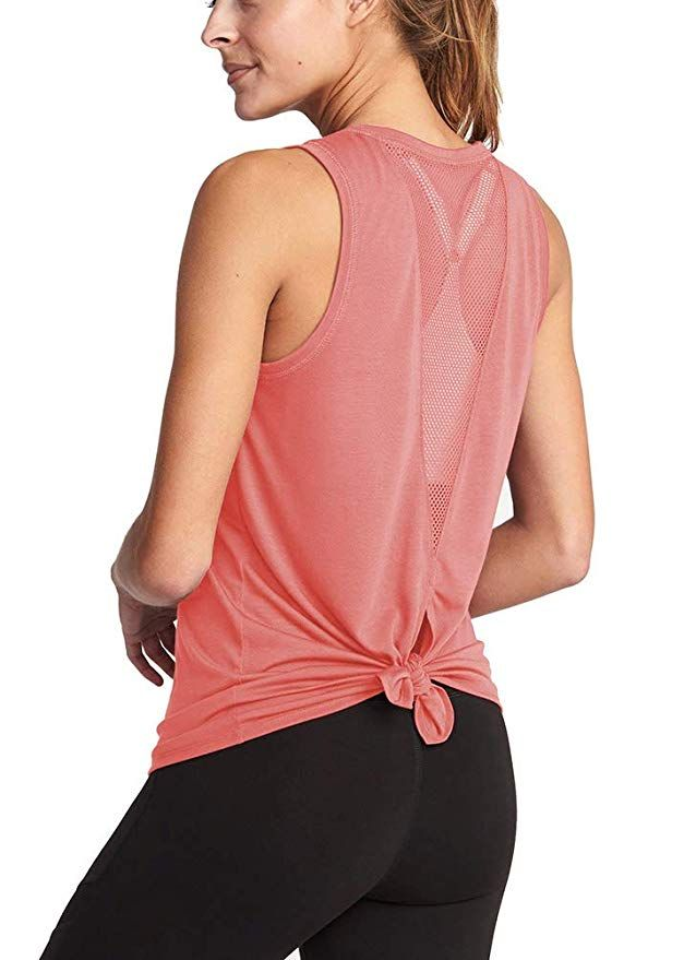 Mippo Workout Tops for Women Yoga Shirts Muscle Tank Athletic Gym Fitness Exercise Clothes