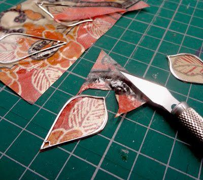Resin Crafts: Open Back Bezel. paper, decoupage, resin, metal frame