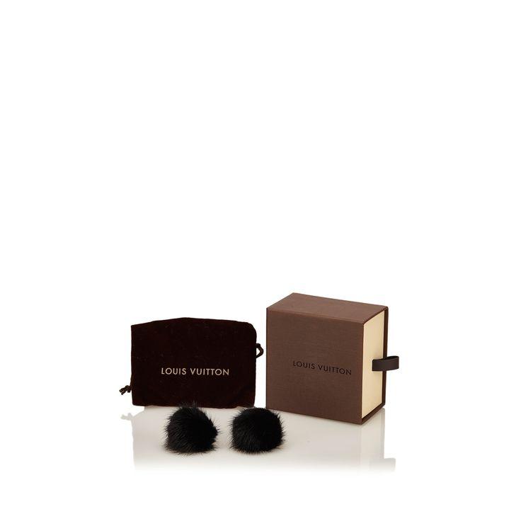 Fur earring by LOUIS VUITTON FUR TASSEL EARRINGS on Leef luxury authentic designer resale consignment