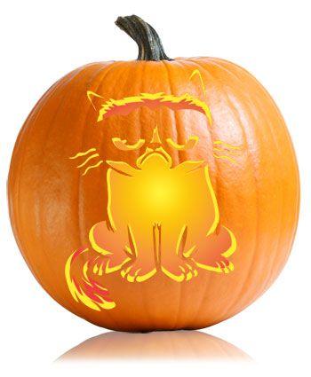 17 best grump o lantern images on pinterest grump cat for Pumpkin kitty designs