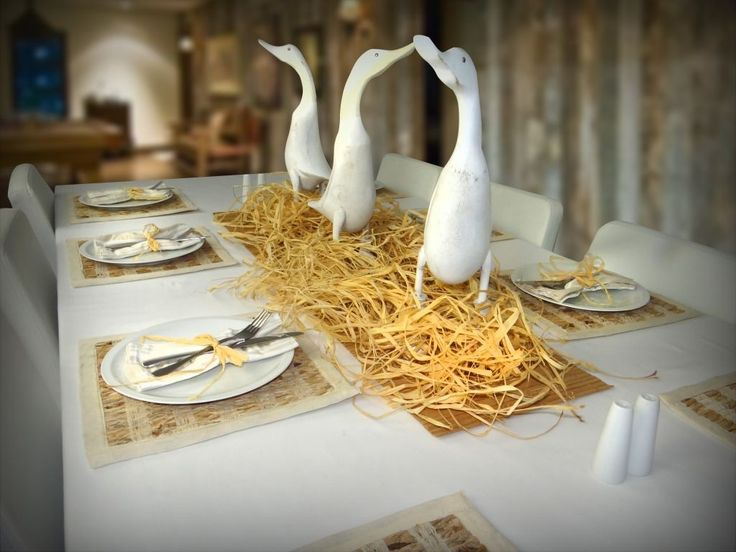 Carolina Duck Table Setting Complete theme table setting package with 8 place settings centrepiece and accessories! & 14 best Theme Table Settings images by Theme Table Settings on ...