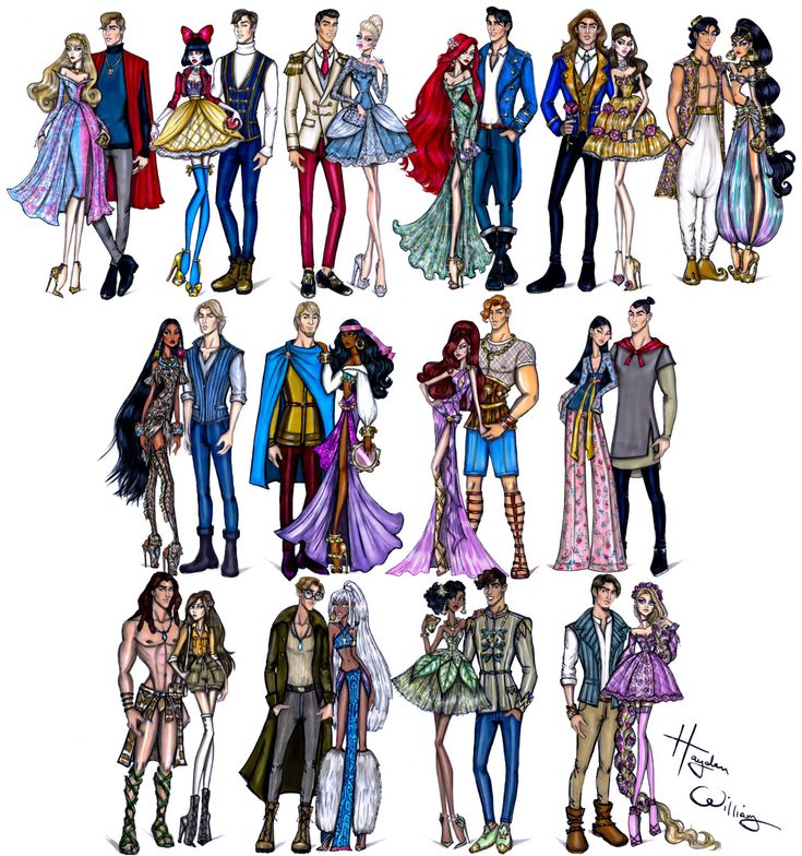Hayden williams fashion illustrations disney darling couples collection by hayden - Fashion diva tv ...