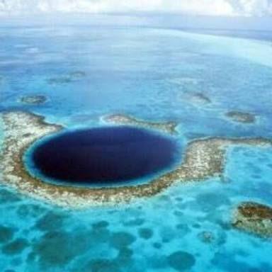 Büyük mavi delik belize karayipler