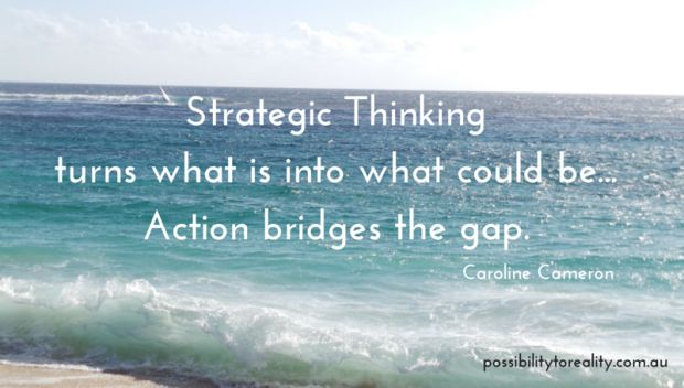 Like leadership, strategic thinking is highly desirable but hard to define.  A valuable and much needed skill, our managers  believe we've either got it or we haven't. Master the skill of strategic thinking - it's not that hard! http://bit.ly/1MZHOPa
