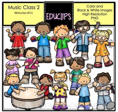 Music Class 2 Clip Art Bundle from Educlips on TeachersNotebook.com -  (48 pages)  - Music Class 2 Clip Art Bundle