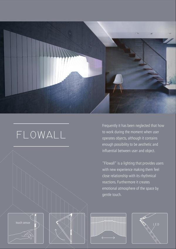 flowall light- emotional, interactive lighting by Jeil PARK, via Behance