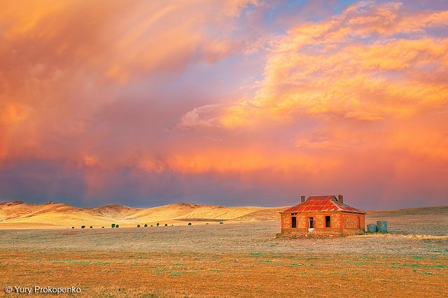 Sunset after the storm near Burra, South Australia  One of the best sunsets I've ever seen.