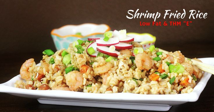 This low fat and Trim Healthy Mama version of Shrimp Fried Rice is a super simple dinner recie that comes together quickly and tastes amazing.