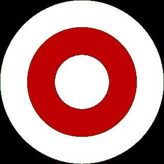"""Беларускі """"раўндэл"""" на аснове бел-чырвона-белага сьцягу: круглая эмблема для зьмяшчэньня на бортах вайсковых самалётаў і на кукардах вайскоўцаў"""