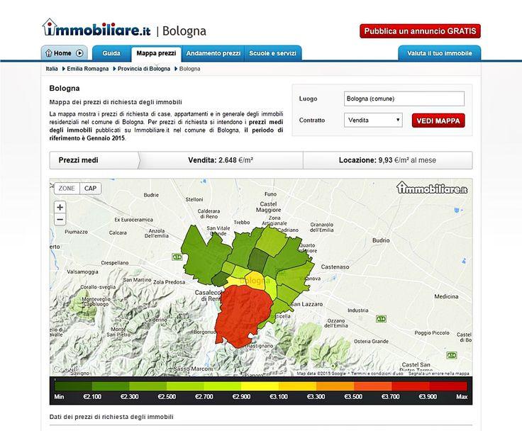 >> Bologna | Mappa dei prezzi di richiesta degli immobili << La mappa mostra i prezzi di richiesta di case, appartamenti e in generale degli immobili residenziali nel comune di Bologna.  Per prezzi di richiesta si intendono i prezzi medi degli immobili pubblicati su Immobiliare.it nel comune di Bologna, il periodo di riferimento è Gennaio 2015. http://www.immobiliare.it/prezzi-mq/Emilia_Romagna/Bologna.html #remax #prestige #crespellano #bologna #informazioniutili
