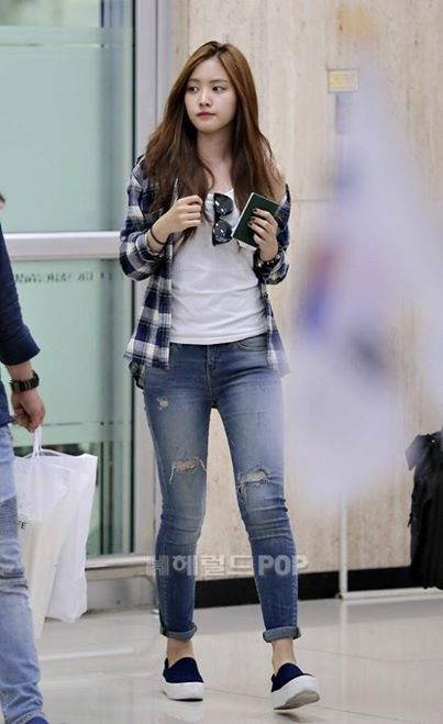 Plaid shirt over tee with jeans - casual look