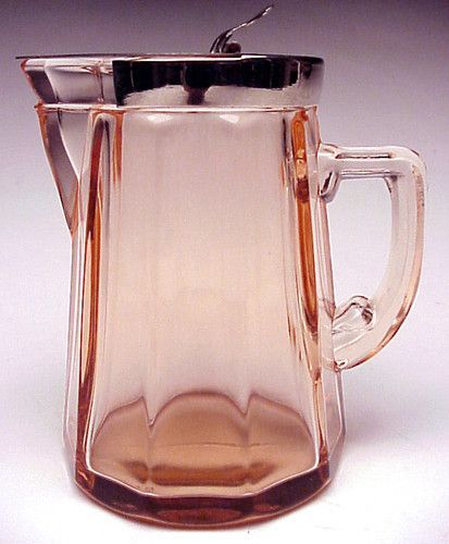 Pink Depression Glass Syrup Pitcher