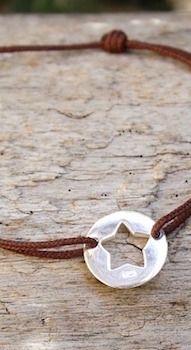bracelet cordon étoile argent massif chez www.unbijouforyou.com