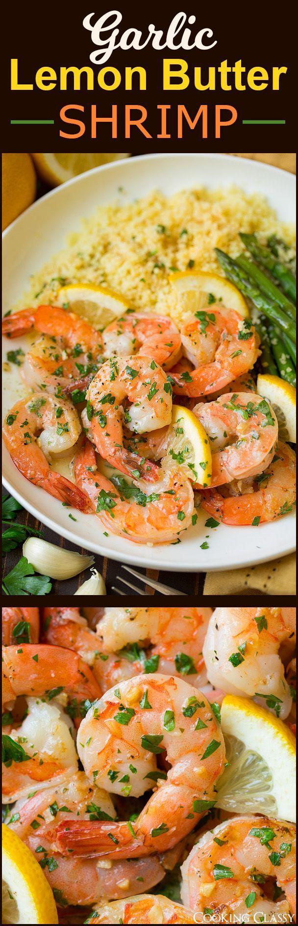 Garlic Lemon Butter Shrimp - seriously easy and so good!
