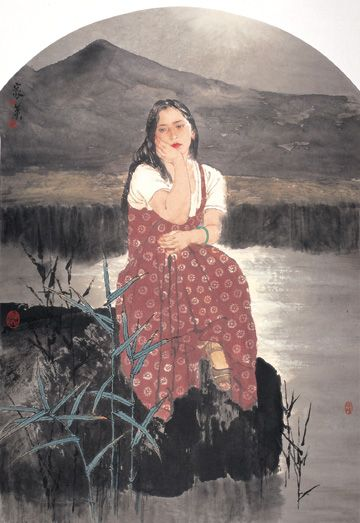Blog of an Art Admirer: He Jiaying, Contemporary Chinese artist(aguada tinta china)