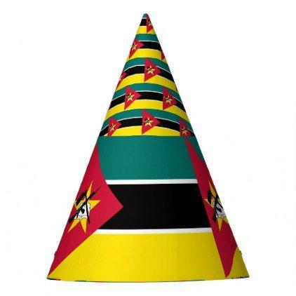 Mozambique Flag Party Hat - accessories accessory gift idea stylish unique custom