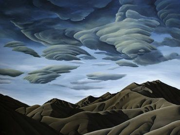 Last Light over Lindis. Diana Adams, NZ Artist.