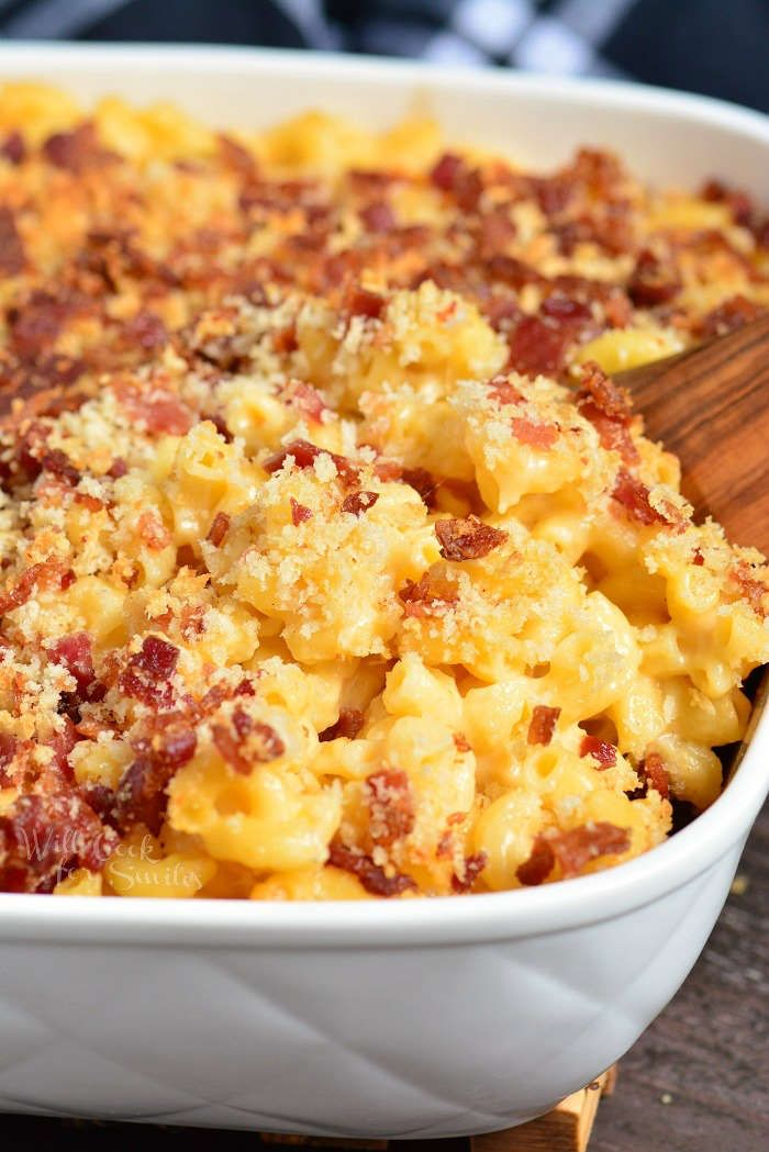Baked Mac And Cheese Is Perfectly Cheesy Creamy And Gooey Topped