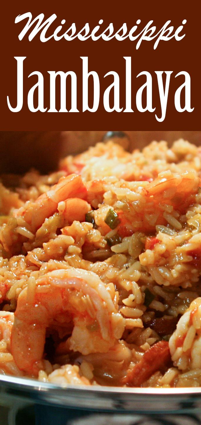Classic Shrimp and Sausage Jambalaya! Loaded with shrimp and Andouille sausage, perfect for a large gathering!