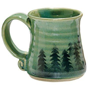 Handcrafted Forest Trees Mug, made by local designer Dulcie Linsoe-Johansen!