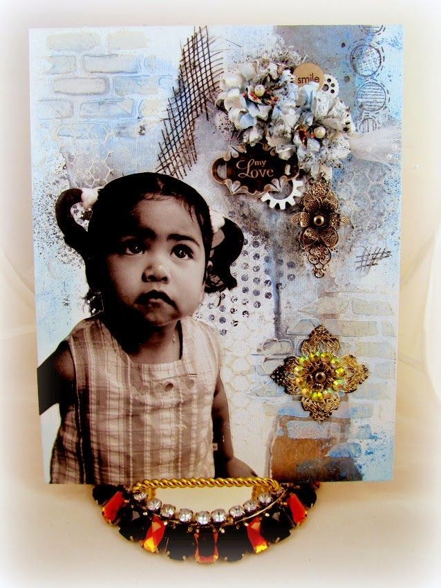 Simply Monica: Painted Blues | Unruly PaperArts