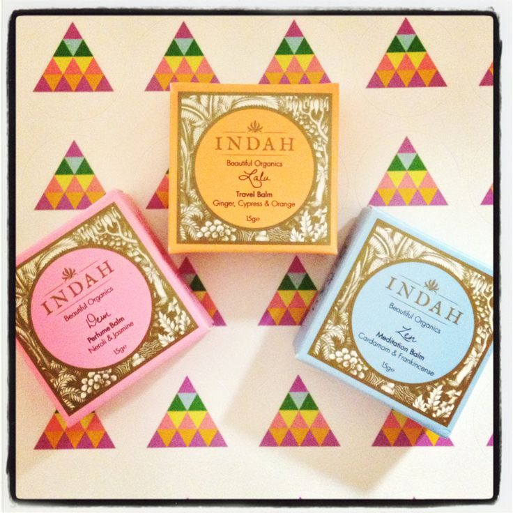 All organic & natural Perfume Balms by the gorgeous INDAH ORGANICS